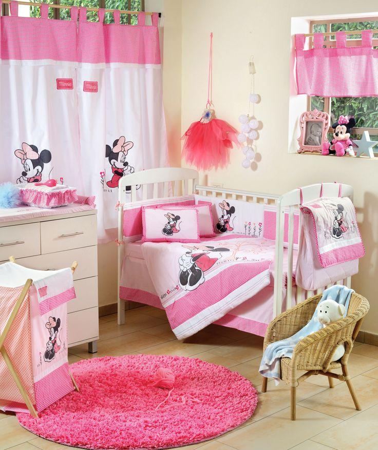Disney Baby Minnie Mouse Flower 4 Piece Crib Set