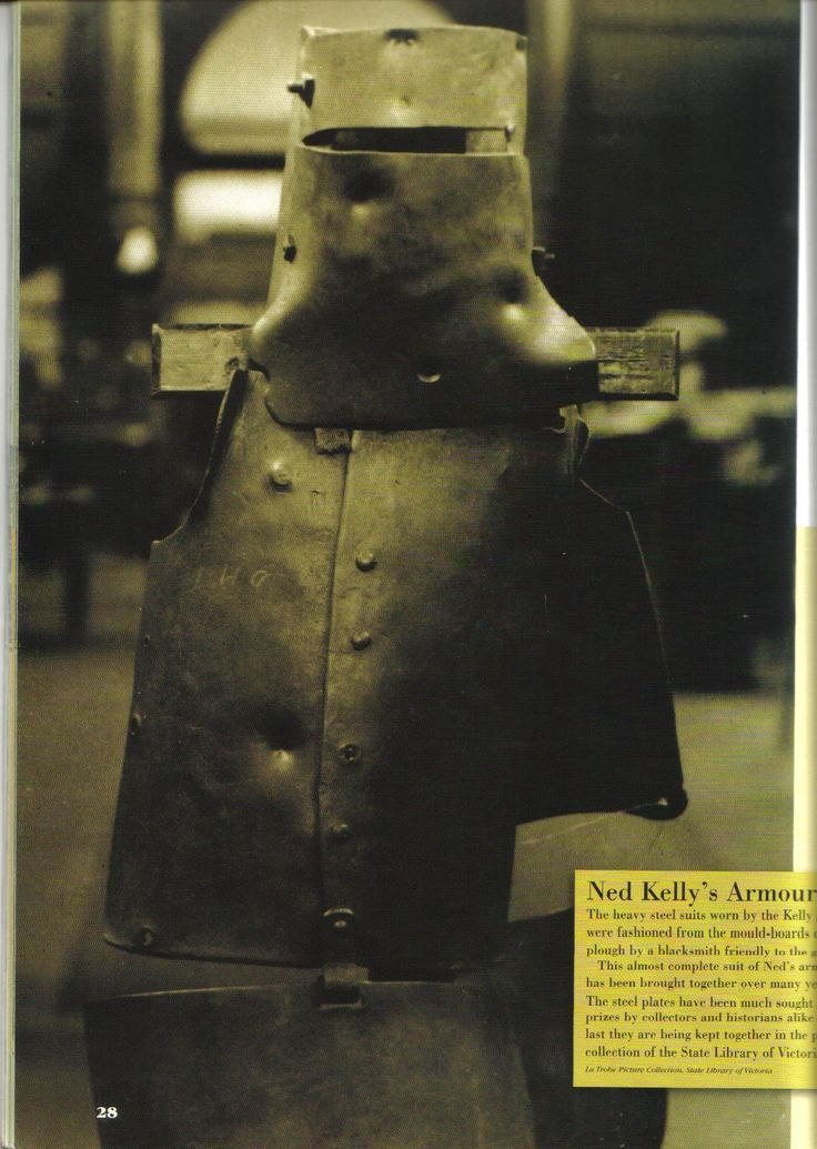 Kelly Gang armour Ned Kelly's full suit complete with bullet dents