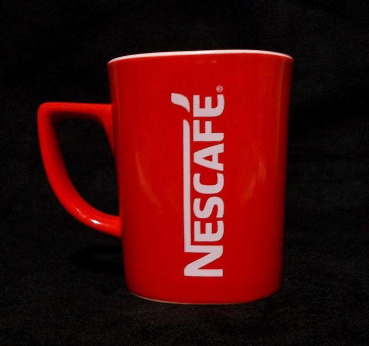 Nescafe Red Square Mug Brand Logo Premium Coffee Cup #Nescafe