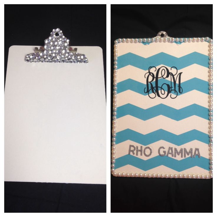Rho Gamma Clipboard for my Big