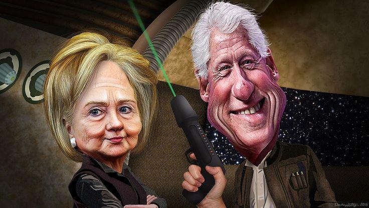 bill and hillary clinton | bill__hillary_clinton_-_the_force_awakens