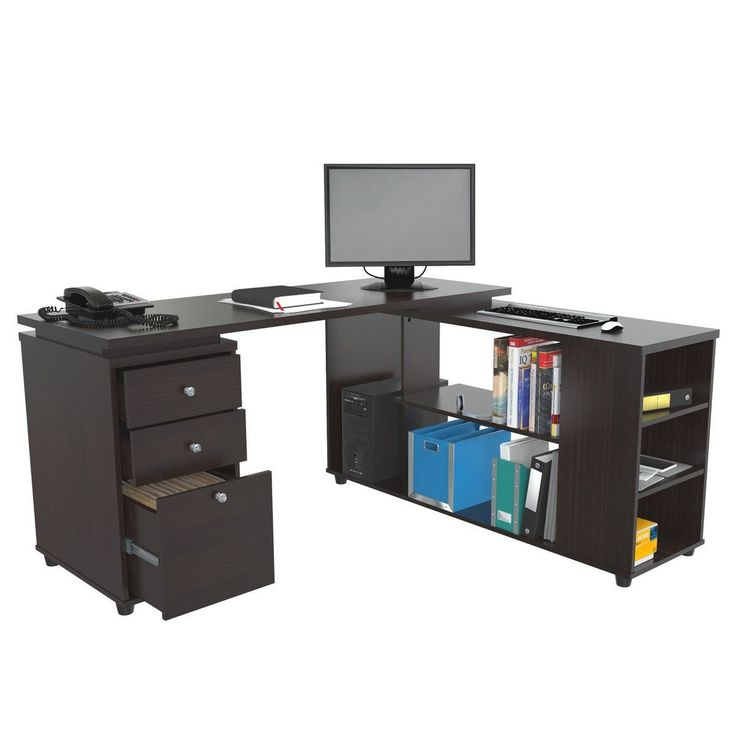 computer table designs for office. inval computer desk with shelves table designs for office