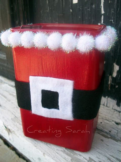 Santa Trash Can  http://sassysites.blogspot.com/search/label/christmas?updated-max=2011-12-09T20:14:00-08:00=20
