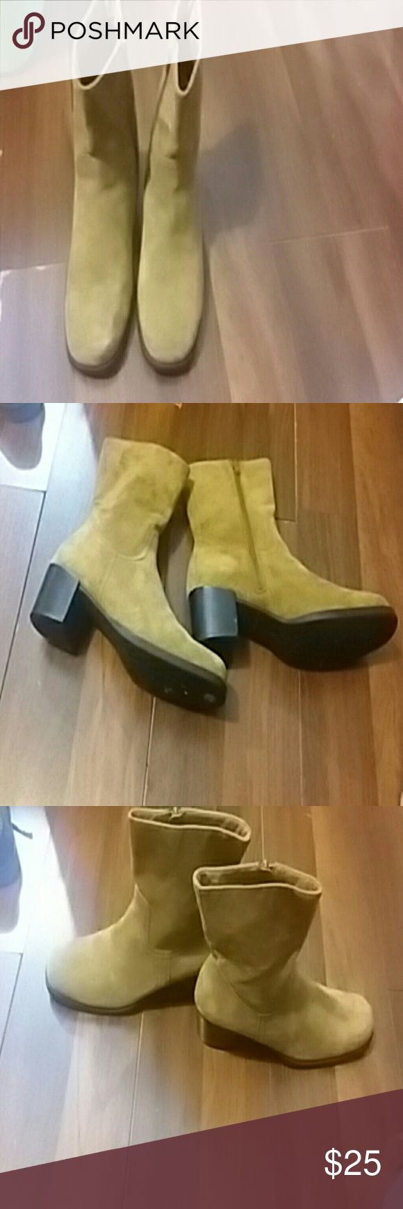 Ankle  boots Nice very very comfortable  suede  nice heel get up and go boot. Dress up or dress down Hush Puppies Shoes Ankle Boots & Booties