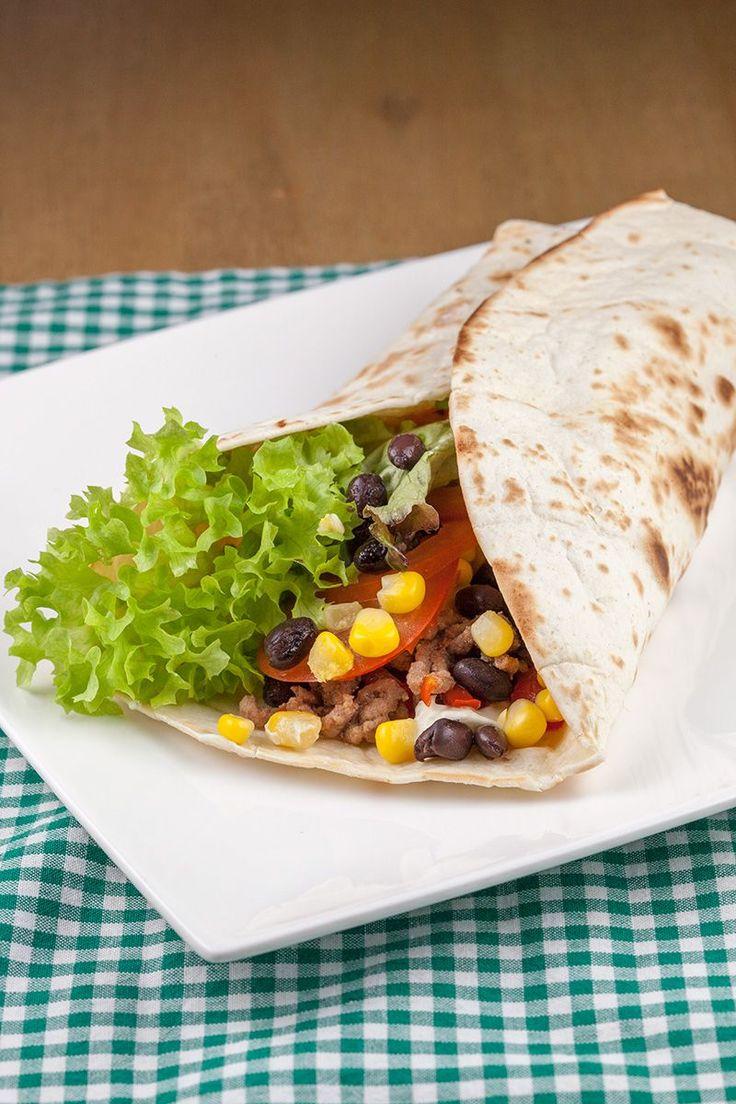 Ontbijt burrito met gehakt