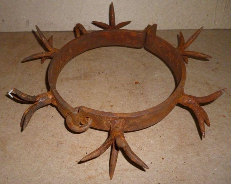 Antique iron dog collar