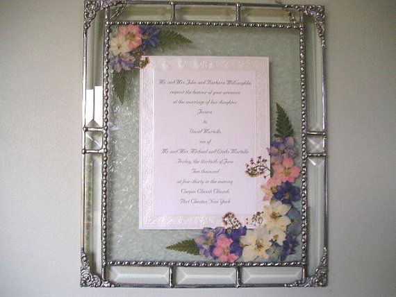 Wedding Invitation Gifts: Framed Wedding Invitation