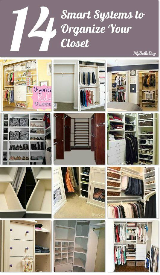 14 smart systems to organize your closet