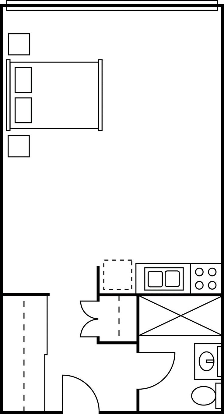 Studio Apartment Floor Plans | Minimalist Apartment Floor Plan And Design  With Open Space Concept . Part 67