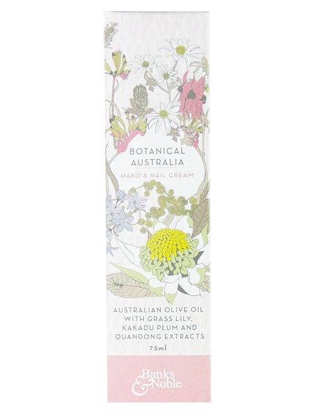 Botanical Australia Hand &Nail Cream. $12.75 Made with the finest Australian Olive Oil and Australian Botanical Extracts of Grass Lily, Quandong and Kakadu Plum this hand cream feels rich and luxurious and is readily absorbed into the skin to keep hands soft, moisturised and looking beautiful. This product contains No SLS, SLES, DEA, TEA, Parabens, silicones, artificial fragrances, synthetic colours, animal derivatives, glycols, petrochemicals, or phlatates. Not tested on animals.