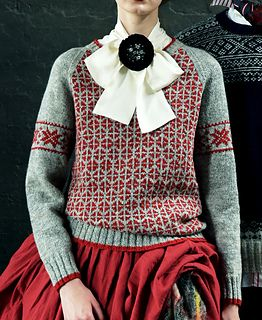 """Setesdals Kofte"" is a traditional pattern used in the official uniform of the national Winter Olympics team of Norway. There seems to be perfection in its beauty and practicality in a pattern everyone can love throughout the ages. The navy and light gray combination comes in handy for all types of wardrobe."