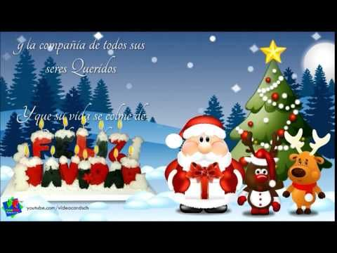 Mensajes navideños, mensajes de navidad, santa claus, renos navidad - YouTube