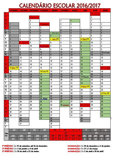 Cantinho do Primeiro Ciclo: Calendário Escolar 2016/2017…