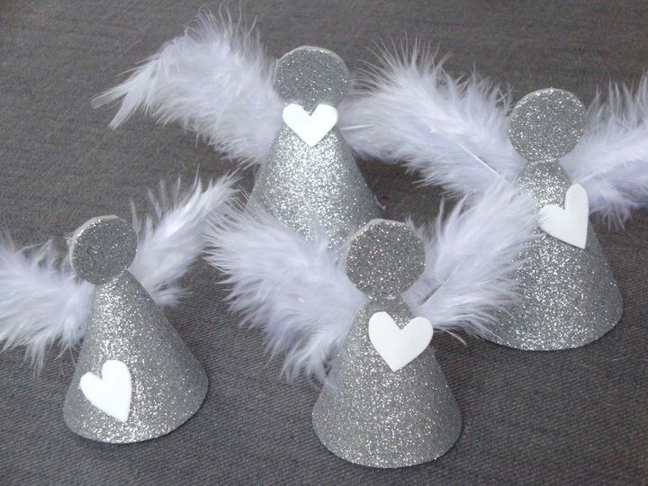 Silvery Cardboard Cone Angels Tutorial Christmas Crafts