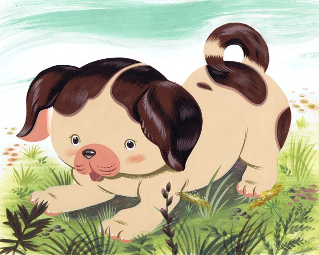 the pokey little puppy painting | Pokey Little Puppy by Pocketowl