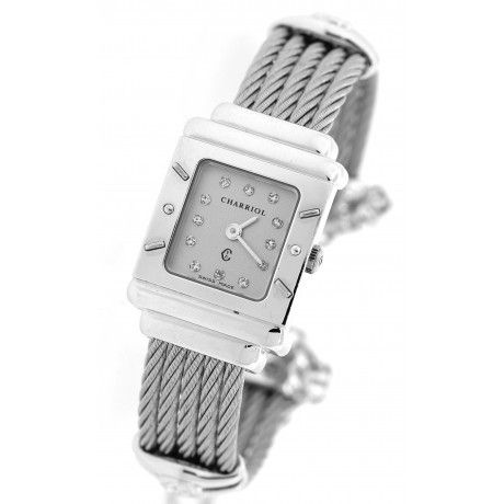 Lady Philippe Charriol Christopher Columbus 1492 1992 925 Sterling Silver 20mm Watch with Gucci mariner chain Weight: 52.8grams #lady #designer #watch #chariol