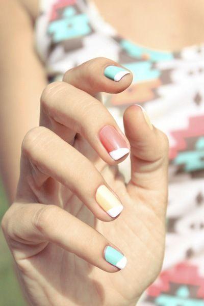 2013 Nails... sherbet hues