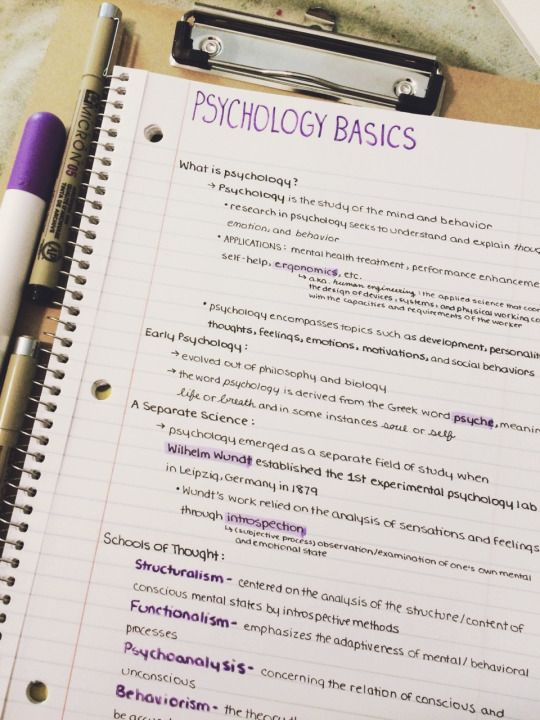 Studyspo psychology notes college