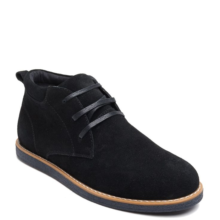 Men's black suede boot