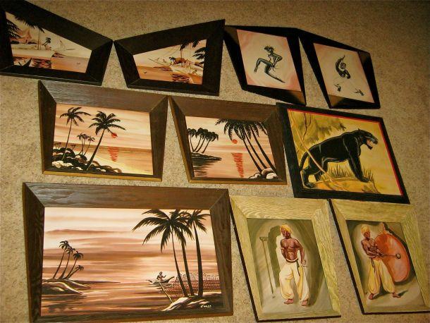 mid century wall art groovy cool frames