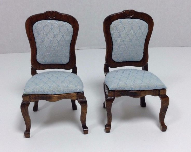dollhouse dining room furniture. vintage doll house miniature upholstered dining room chairs set in dolls u0026 bears dollhouse miniatures furniture m