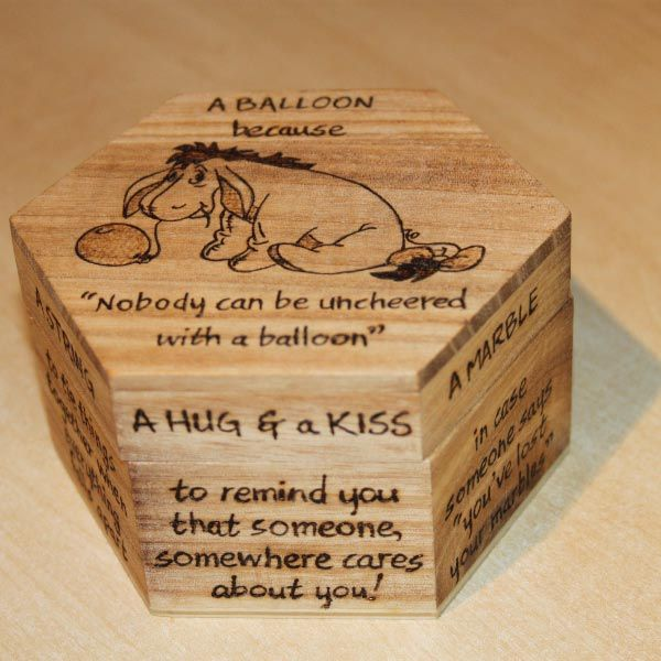 Anti depression kit - A little box that is a perfect gift for someone in need of cheering, or just someone who likes Eeyore.