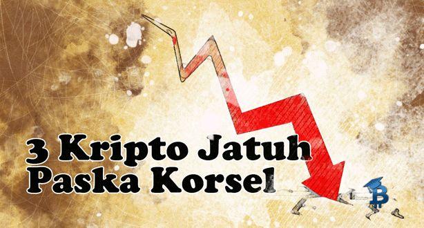 3 Mata Uang Kripto Jatuh di Bursa Korsel