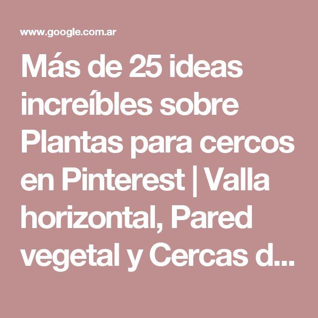 Más de 25 ideas increíbles sobre Plantas para cercos en Pinterest | Valla horizontal, Pared vegetal y Cercas de madera
