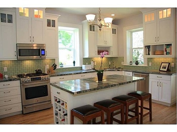 17 best images about kitchens with white vintage cabinets for Automatic kitchen cabinets