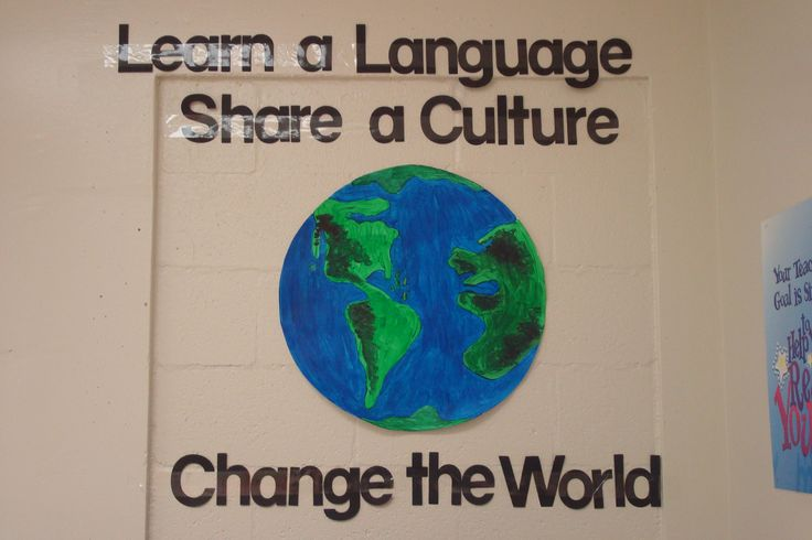 Bulletin board or classroom decoration for foreign language classroom.... …