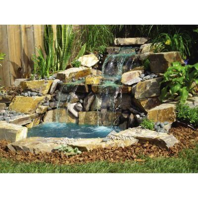 Ultimate pond products pond kit with free form waterfall for Pond waterfall kit