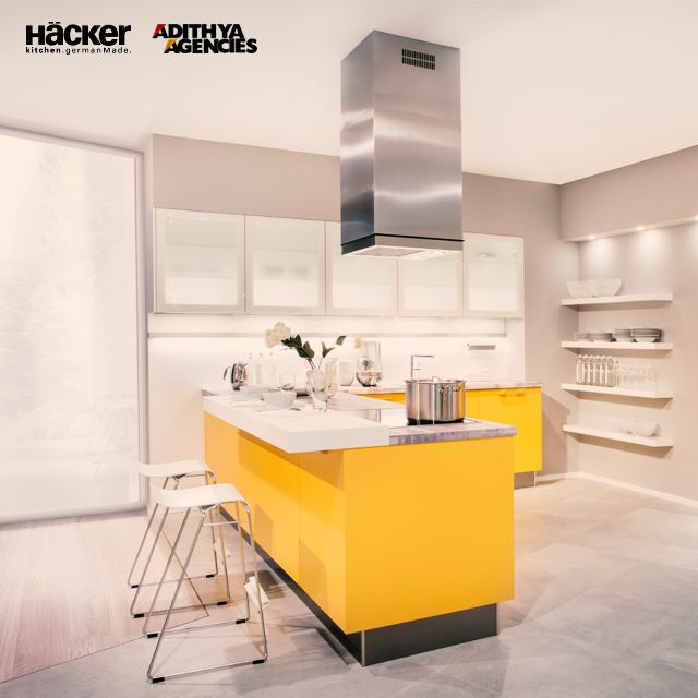 Yellow Yellow, no more a dirty fellow  A bright #Yellow #Kitchen to light up your day :)