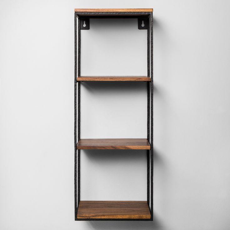 Decorative Wall Shelf Black/Wood – Hearth & Hand™ with Magnolia
