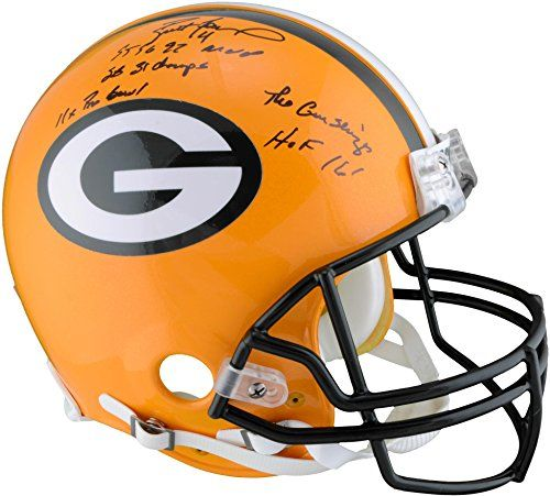 Brett Favre Green Bay Packers Autographed Proline Helmet with Career Stats - Limited Edition of 12 - Fanatics Authentic Certified *** Find out more about the great product at the image link.