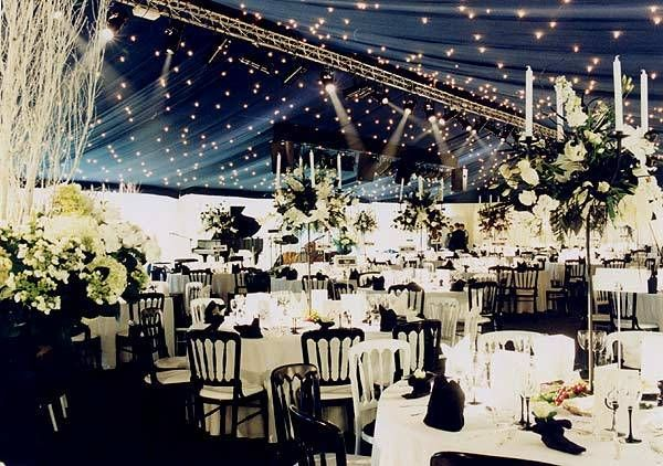 Grand Black And White Marquee Decoration