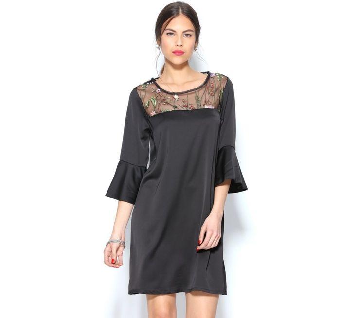 Krátke šaty s kvetinovou farebnou výšivkou | modino.sk #ModinoSK #modino_sk #modino_style #style #fashion #dress