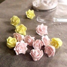 マシュマロフォンダンで簡単バラとお花♡