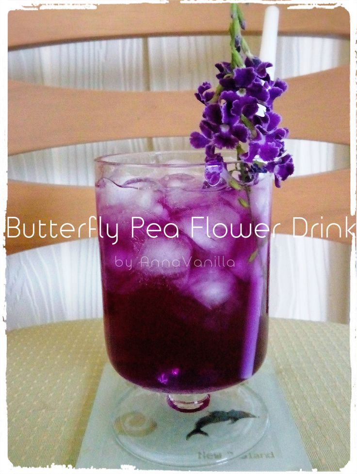 Butterfly Pea Flower & Honey Drink, Thai Style ~ AnnaVanilla