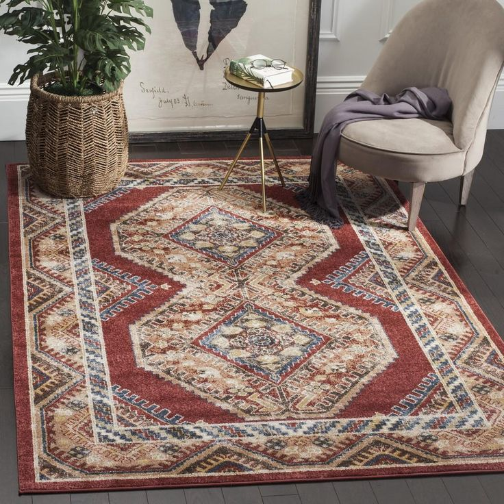 """BIJ647R Rug from Bijar collection.  The fine artistry and craftsmanship of Kurdish rug makers is recreated in the Bijar Collection, also known as """"the iron rugs of Persia."""" Traditionally styled but with an modern sense of vogue colors and high-touch texture. Large Persian motifs call attention to the brilliant, earth-tone hues and vibrant blue highlights that fill the soft, ornate pile. The ideal floor coverings to accentuate living room or dining room decor."""