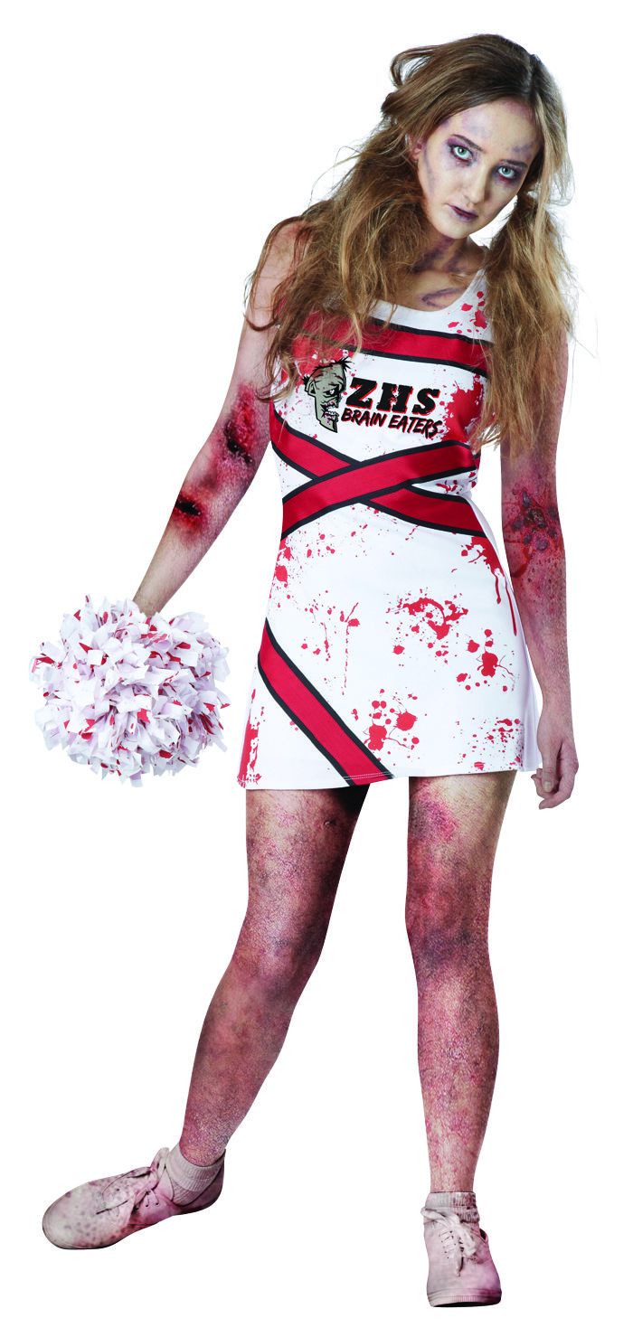 Zombie Cheerleader Costume - Meijer Halloween 2014