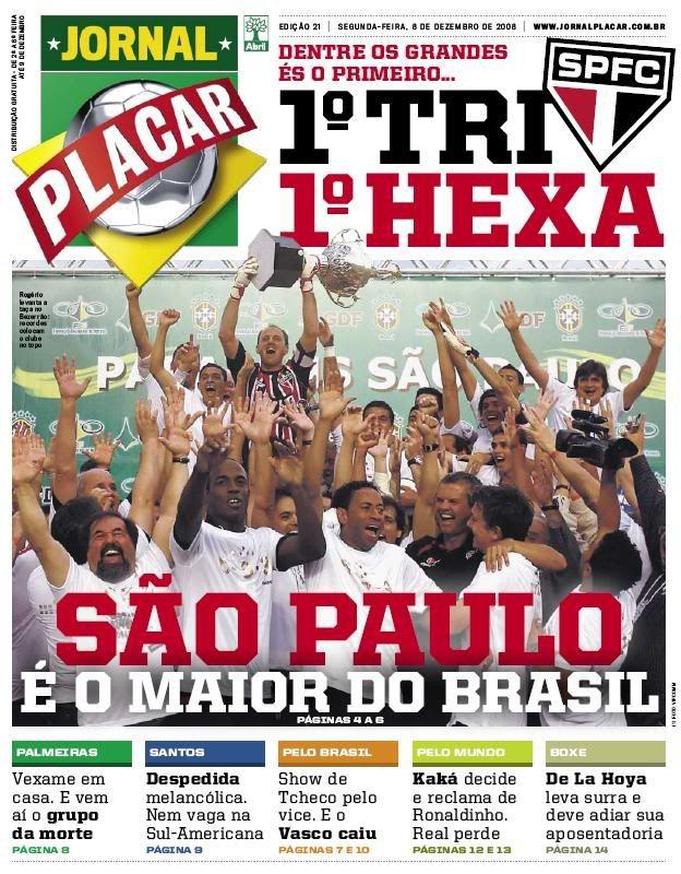 São Paulo TriHexa Jornal PLACAR (SP) Jornalismo, São