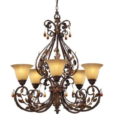 Hampton Bay Cristobal Collection 5 Light Royal Mahogany Chandelier   Bathroom ChandelierDecorating Dining RoomsCondo. 37 best Lamps I Love  images on Pinterest
