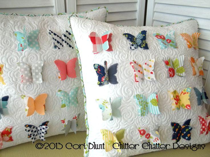 Magpie Quilts: All a Flutter Pillow