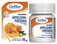 Gefilus Apteekkarin appelsiini-persikka maitohappobakteeri purutabletti - Oriola - Finland