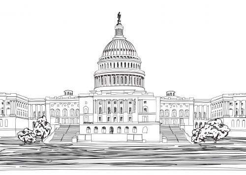coloring pages of capitol building - photo#19