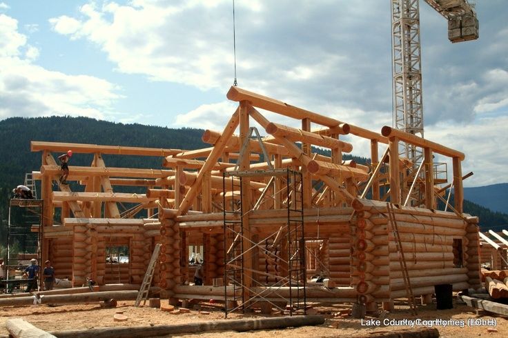 1000 images about handcrafted custom log roof systems on for Log cabin roof construction