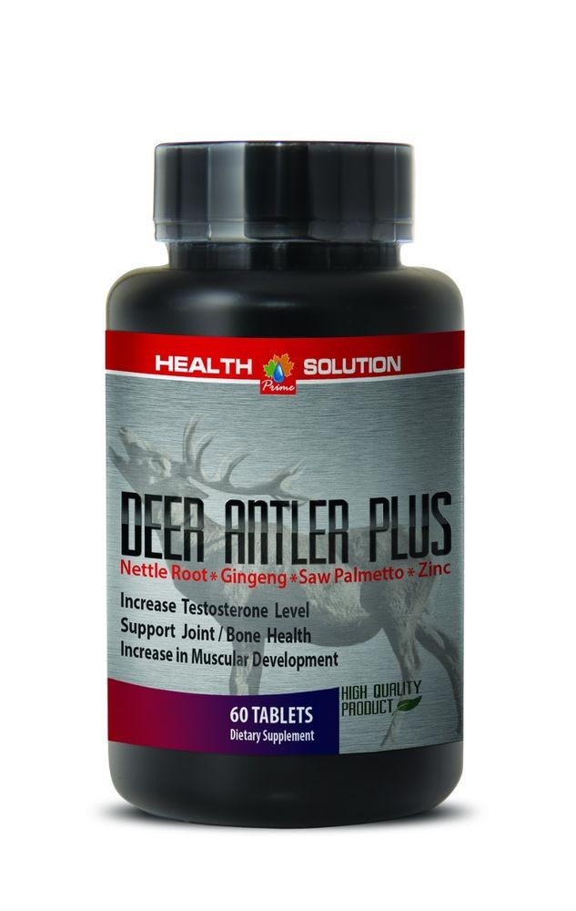 Extreme Muscle Growth Pills - Deer Antler Plus 550mg - Elk Velvet Extract 1B #HSPrime