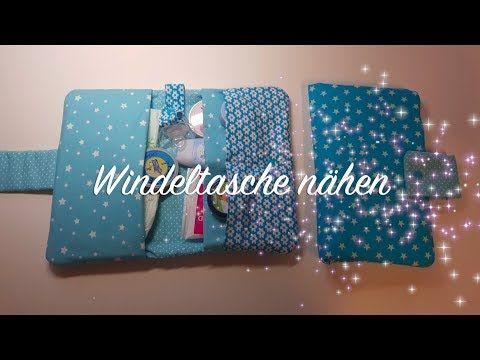 DIY Windeltasche mit Schnullerband und Innenfächern selber nähen | DIY Kajuete - YouTube