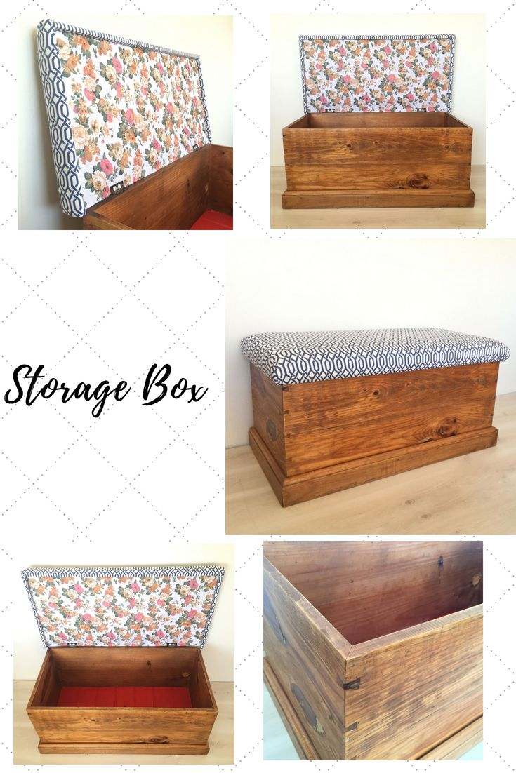Upcycled Old Storage Blanket Box Fully Upholstered Seat To Sit On