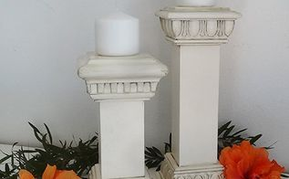 faux vintage candle holders, crafts, how to